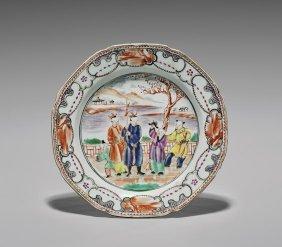18th Century Export Famille Rose Dish