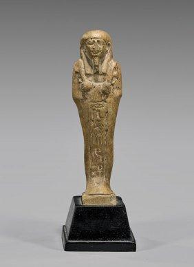 Egyptian Brown Glazed Ushabti