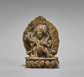 Antique Sino-tibetan Bronze Plaque