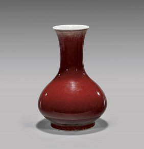 Antique 'ox-blood' Glazed Porcelain Vase