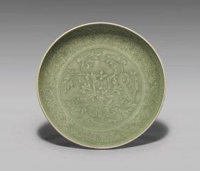 Fine Ming Dynasty Celadon Dish