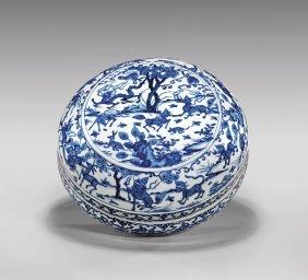 Ming Dynasty Wanli Blue & White Box