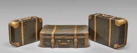 Three Vintage Louis Vuitton Suitcases