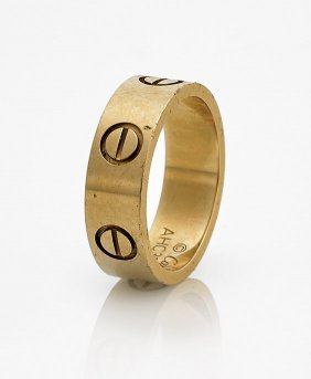 Cartier 'love' 18k Yellow Gold Ring