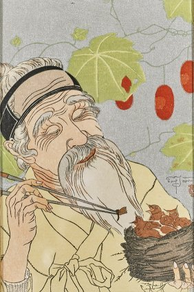Four Woodblock Prints By Jacoulet