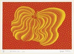 Screenprint By Yayoi Kusama: Yellow Pumpkin