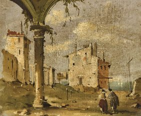 Oil Painting In Manner Of Francesco Guardi