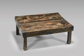 18th Century Lacquered Portable Table
