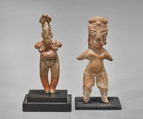 Two Pre-columbian Pottery Fertility Figures