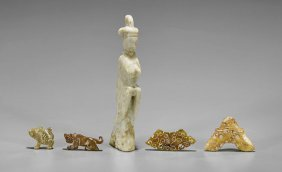 Five Old & Archaistic Jade Carvings