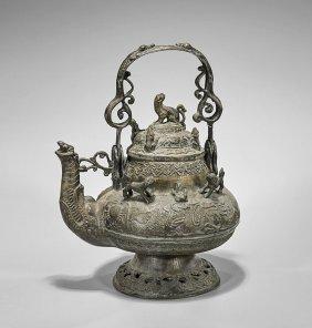 Antique Southeast Asian Bronze Ewer