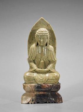 Old Carved Soapstone Medicine Buddha