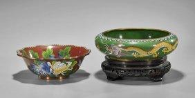 Two Chinese Cloisonné Enamel Bowls