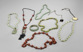 Nine Various Chinese Jewelry