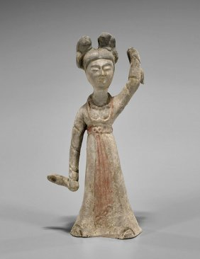 Tang-style Painted Pottery Dancer