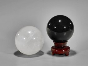 Two Large Well Polished Spheres