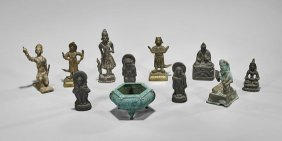 Eleven Old & Antique Asian Bronzes