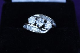 Ladies Diamond Cluster Dinner Ring