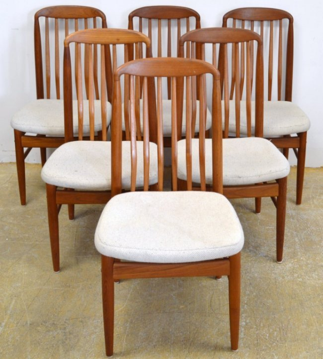 Benny Linden Danish Style Dining Room Chairs Lot 392d