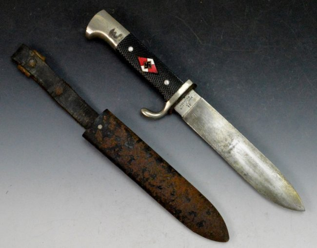 WWII German Hitler Youth Dagger : Lot 558