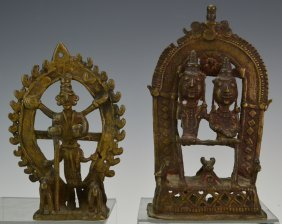 Bronze Indian Figures Of Parvati Grouping