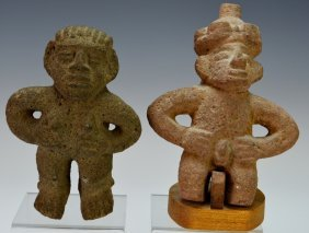 Two Costa Rican Stone Figures