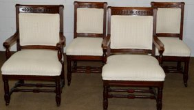 Walnut Eastlake Victorian Chairs