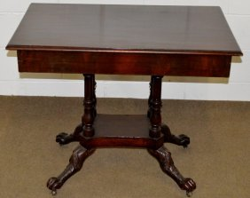 First Empire Mahogany Game Table