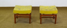 Pair Jens Risom Floating Benches / Ottomans
