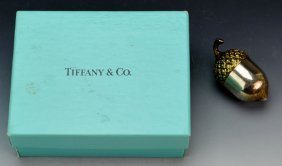 Tiffany & Co. Sterling Acorn Thimble Holder