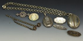 Victorian Silver Jewelry Grouping
