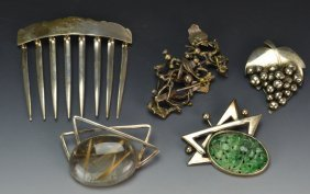 Carlisle Sterling Brooch Grouping