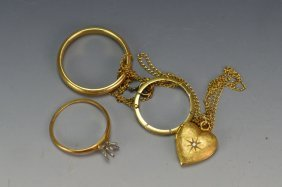 Scrap Gold Jewelry Grouping