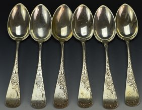 Schlecter & Henry Sterling Spoon Grouping