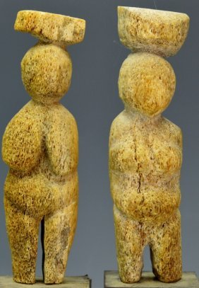 Carved Whale Bone Figures: Sotheby's