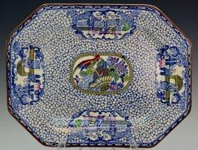 William Adams Porcelain Platter Chinese Export