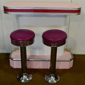 Ice Cream Parlor Counter & Stools