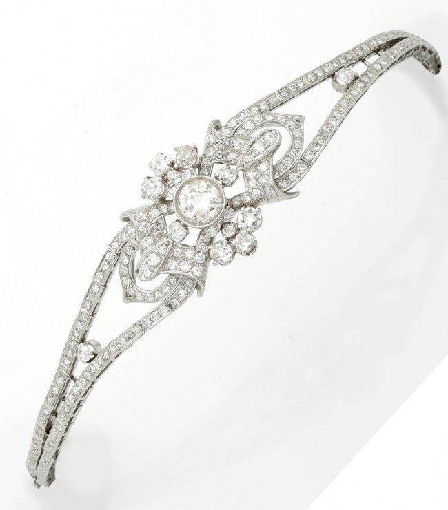 armband mit brillanten und diamanten 1910 20 lot 548. Black Bedroom Furniture Sets. Home Design Ideas