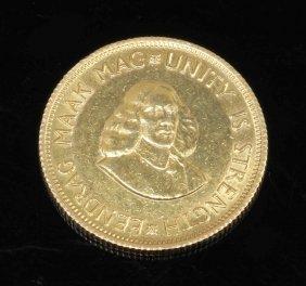 2 Rand Südafrika, 1962. 917er Gg. Gew. 8,48 G