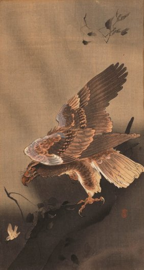 Seidenmalerei China, 20. Jahrhundert. - Adler
