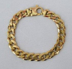 14k Men's Link Bracelet 8.75'' Long - Weighing 54 G