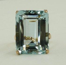 23.88 Carat Natural Aquamarine - Emerald Cut In 14k