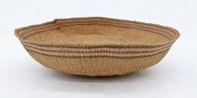 Old Haida Berry Sorting Indian Basket 3''x10''. Spruce