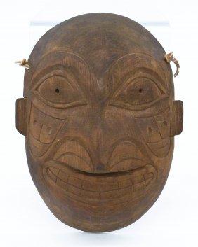 Willie Marks Carved Cedar Mask 9.25''x7''. Carved