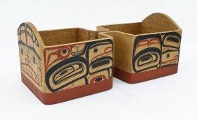 David Boxley (b.1952 Tsimshian) Double Bentwood Box
