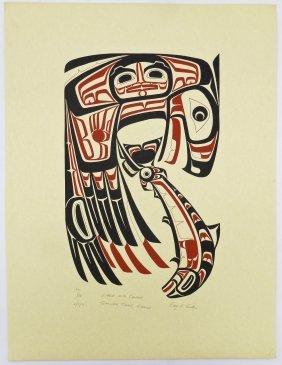 Roy Vickers (b.1946 Tsimshian) ''eagle With Chinook''
