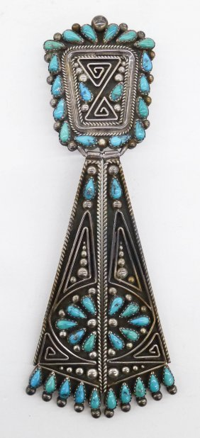 Betty Betoney Navajo Silver & Turquoise Tie