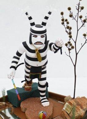 Peter Shelton Hoyesva Hopi ''koyala'' Kachina Doll In