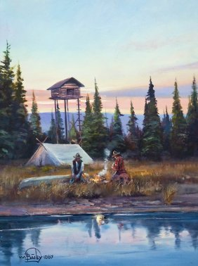 William Bailey (b.1944 American) Untitled Camp with