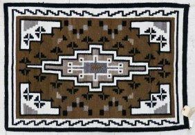 2pc Navajo Geometric Wool Rugs 48''x34'' And 62''x29''.
